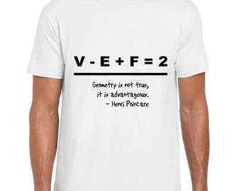 Science Art - A Beautiful Equation & Henri Poincare Mens Womens Graphic Tee