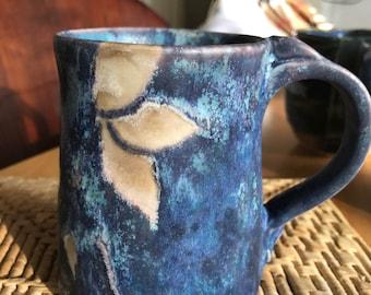 Beautiful stoneware coffee mug- handmade