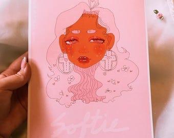 7x9 Softy Print