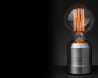 Machined Stainless Steel Table Lamp