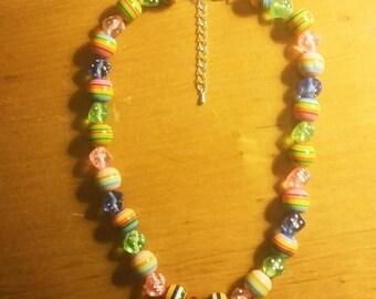 Coloured Dice Necklace