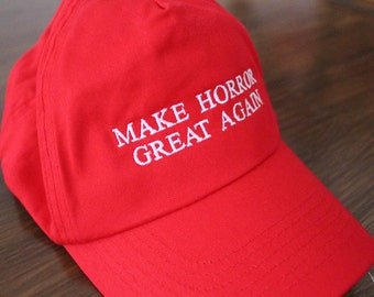Make horror great again baseball cap