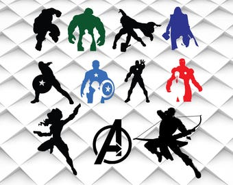 Avengers svg,png,jpg,eps for Print/ Silhouette Cameo/Cricut and Many More