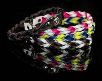 Leather Dog Collar, leather collar, braided leather collar, braided collar, braided dog collar, custom collar, custom dog collar, dog collar