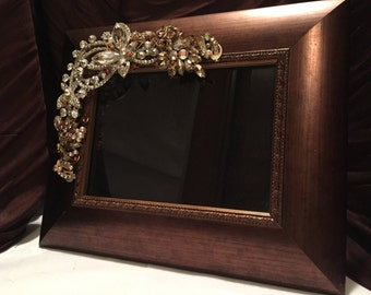 Bronze and Jeweled Picture Frame