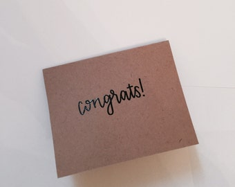 """Embossed """"congrats!"""" card set of 10"""