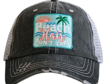 Beach Hair, beach hair hat, beach hair dont care, ladies hats, beach hat