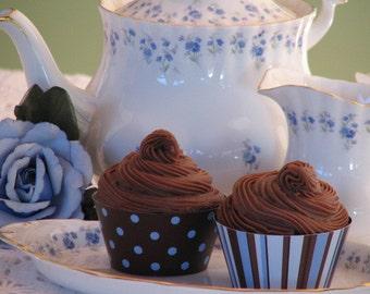DAPPER Cupcake Wrapper & Topper - PRINTABLE