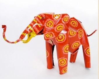 Recycled Metal Elephant Art