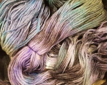 Calliope the Corgi Rider DK 100% Marino Wool Yarn 245 Yards (Green, Purple, Gray, Blackl