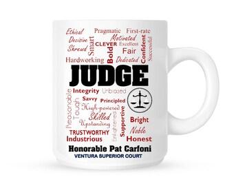 Custom Judge Gift // Judge Mug // Gift For Hair Judge// Custom Coffee Mug Gift