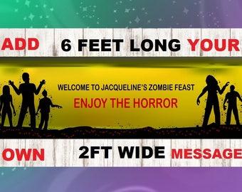 Zombie Banner, Zombie Party,Zombie,Zombie birthday