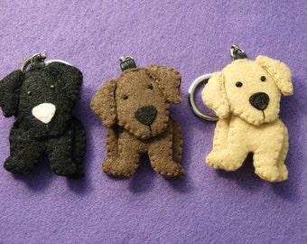 Labrador Retriever Felt Ornament Keychain