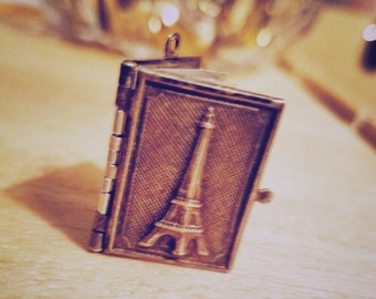 Rare Antique Paris French Souvenir Book Locket