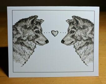 Wolf Love Card