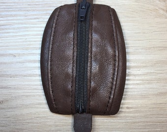 Mini Brown Vintage leather wallet