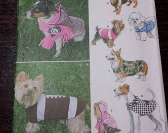 dog coat, dog clothes, sewing patterns, simplicity