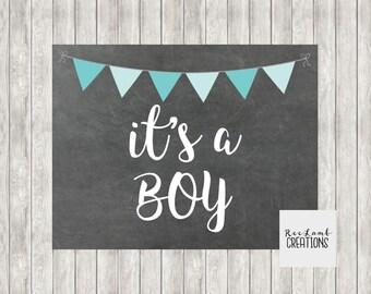 Digital It's A Boy Announcement Printable | Pregnancy Announcement