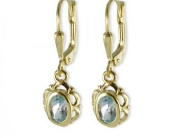 Blue Topaz Earring (8ct yellow gold/1.40grams)