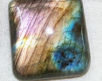 Natural Lebradorite With Blue, Yellow, Purple and Orange Multi Triple Fire Stone