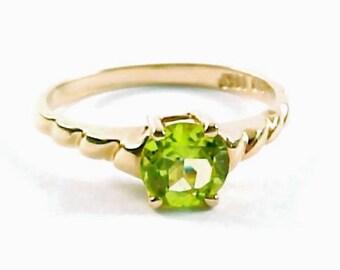 Peridot 14k Gold Ring