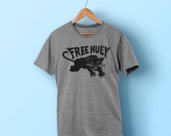 Free Huey Shirt - Vintage Style Black Panther T-Shirt