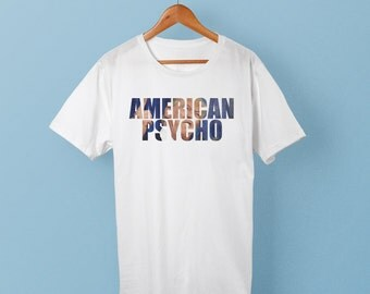 Anti Trump Shirt American Psycho text