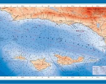 Santa Barbara Channel Poster (laminated)