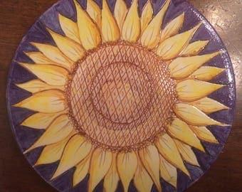 Sunflower kitchen decor ceramic plate * sunflower * cake plate #