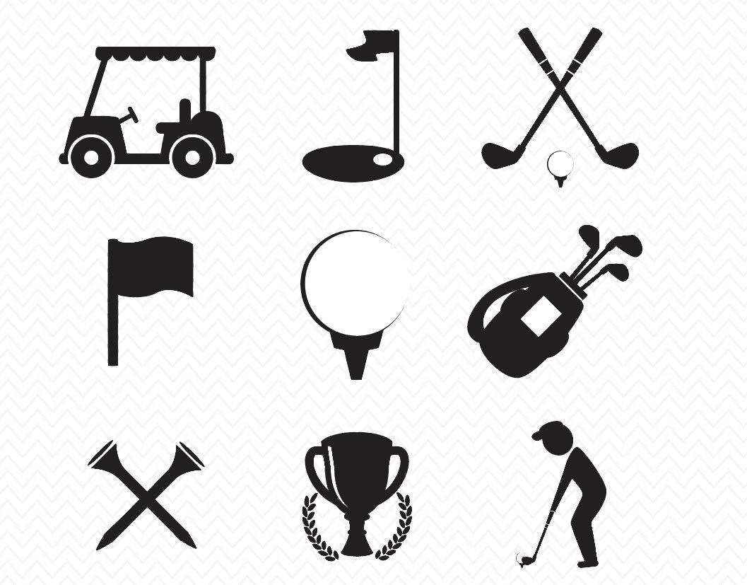 Download Golf SVG files- Silhouette Cameo or Cricut Explore ...