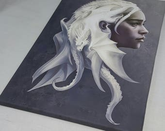 Daenerys Targaryen, Khaleesi, Mother Of Dragons A3 Size Canvas