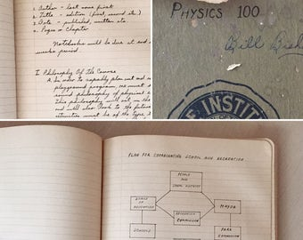 SALE- Vintage College Notebooks - 1940's