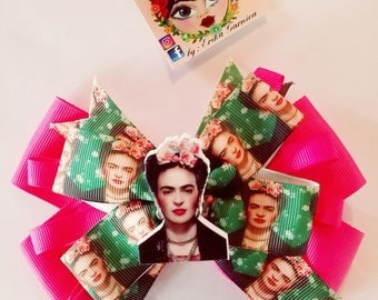 Frida ribbon clip hairbow