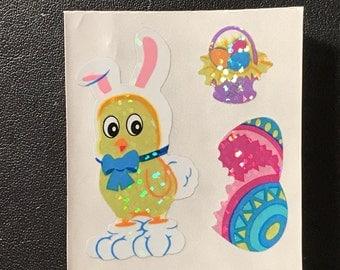 Sandylion Stickers Scrapbooking vintage  Easter Egg, Chick in Bunny Costume    (1 mod)