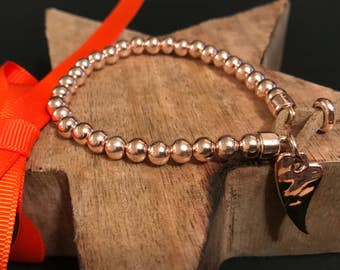 Beautiful Rose Gold Bracelet with Heart.