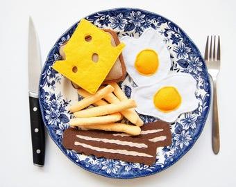 Breakfast Set, Felt Breakfast Set, Play Food, felt Play Food, Toy Food, Kids Play Food, Felt Food, felt food set