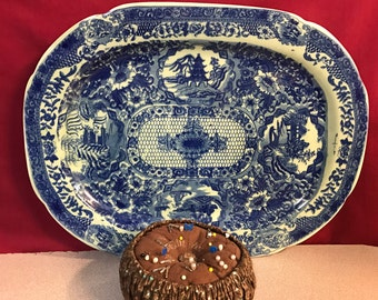 Blue Willow Vintage Platter
