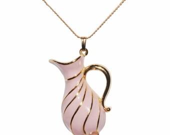 VINTAGE SPHINX - Carafe pitcher Rose necklace