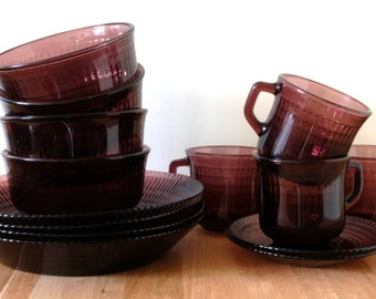 Plum Amethyst Fortecrisa Reflections Mexico dinnerware