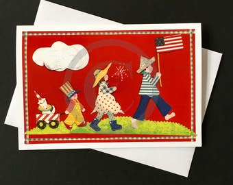 Patriotic Card-Parade
