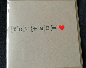 Love Equation Card