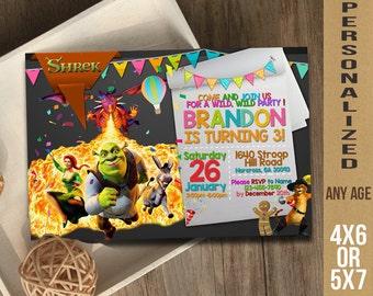 Shrek / Shrek Invitation / Shrek Birthday / Shrek Party / Shrek Birthday Invitation / Shrek Party Invitation / Shrek Printable