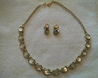 Coro Mother of Pearl necklace and earrings