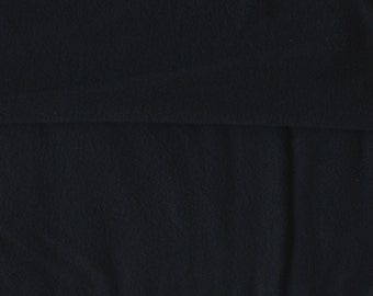 Fleece-Back Polyester Spandex, Black – 1/2 Meter