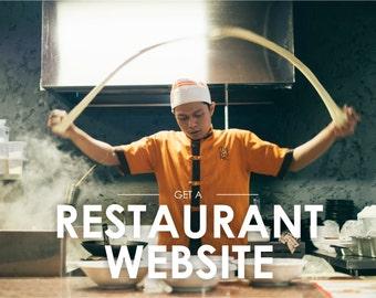 Restaurant Website Design, Fully Working Website for a Restaurant, Custom Web Design, Wordpress Website, Responsive Website, Mobile Friendly