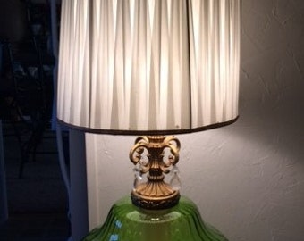 VINTAGE GLASS LAMPS