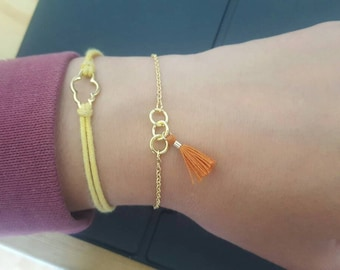 Summer bracelet gold and rust