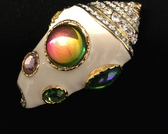Kenneth Lane Conch Shell Brooch