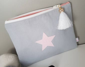 Pink Star makeup bag