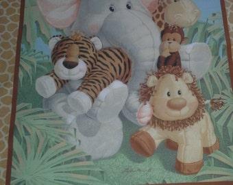 New handmade Jungle Babies crib/toddler quilt